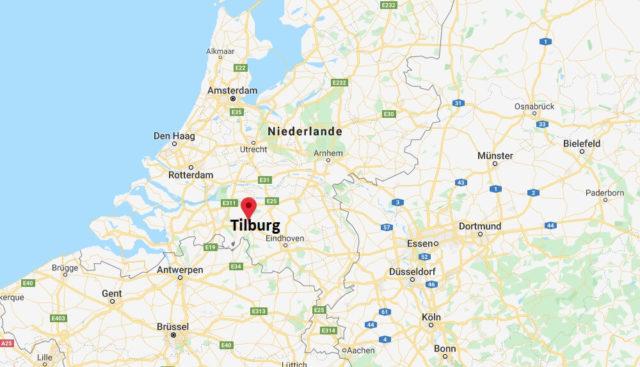 Wo liegt Tilburg? Wo ist Tilburg? in welchem land liegt Tilburg