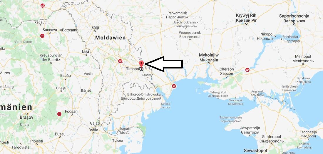Wo liegt Tiraspol? Wo ist Tiraspol? in welchem land liegt Tiraspol