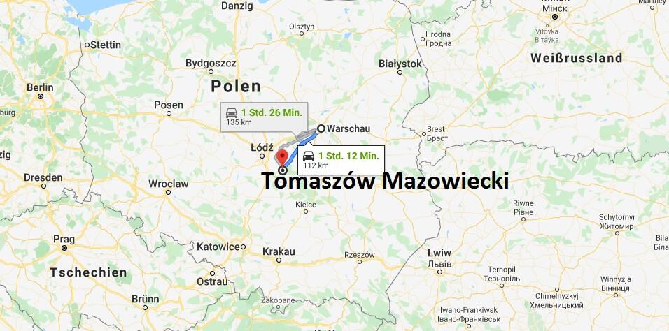 Wo liegt Tomaszów Mazowiecki? Wo ist Tomaszów Mazowiecki? in welchem land liegt Tomaszów Mazowiecki