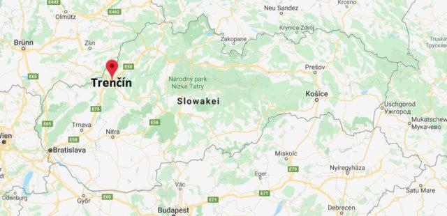 Wo liegt Trenčín? Wo ist Trenčín? in welchem land liegt Trenčín