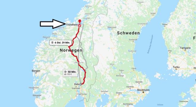Wo liegt Trondheim? Wo ist Trondheim? in welchem land liegt Trondheim