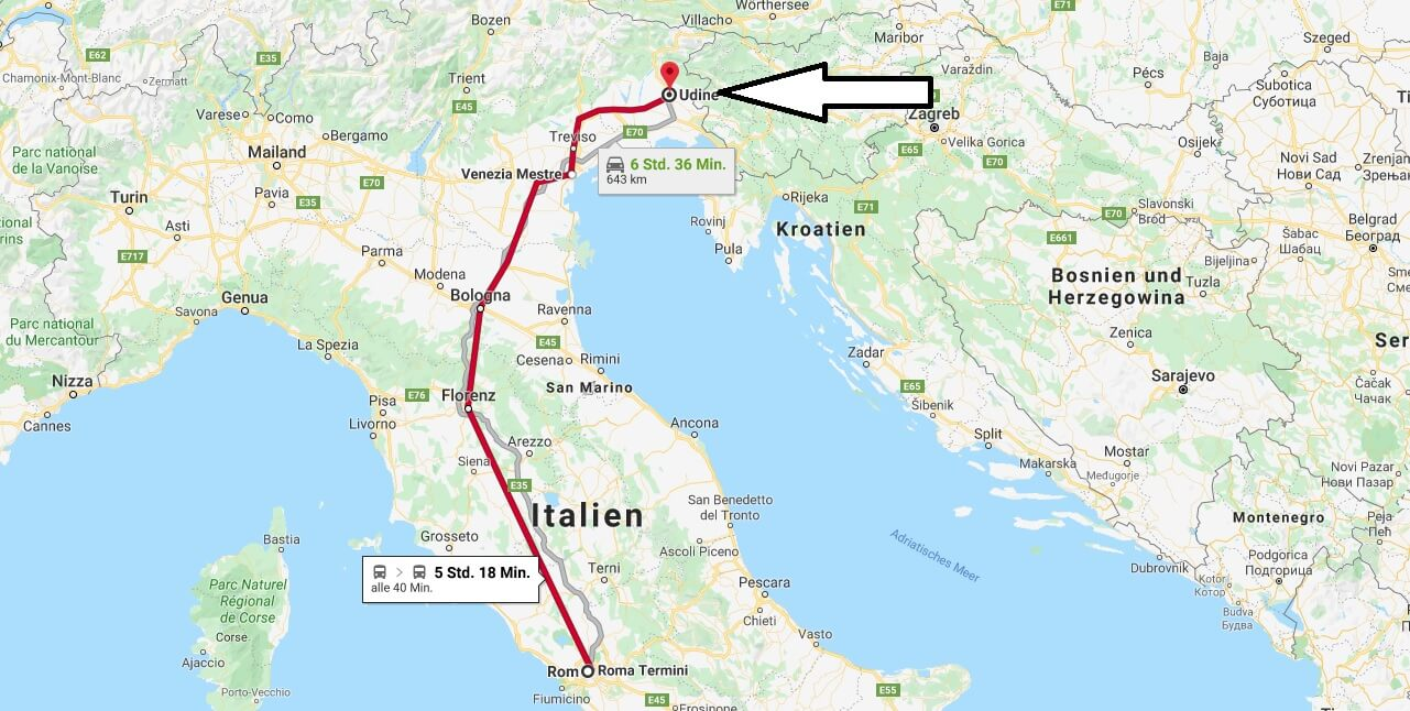 Wo liegt Udine? Wo ist Udine? in welchem land liegt Udine