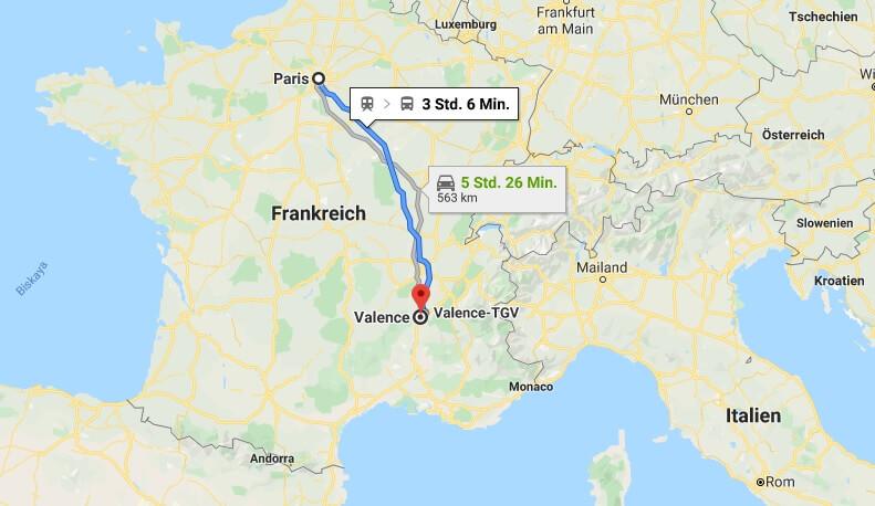 Wo liegt Valence? Wo ist Valence? in welchem land liegt Valence