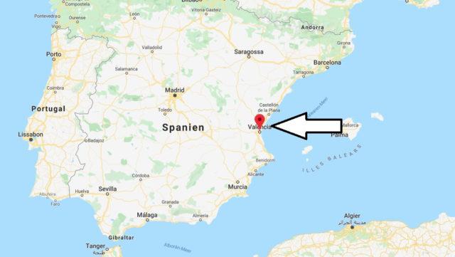 Wo liegt Valencia? Wo ist Valencia? in welchem land liegt Valencia