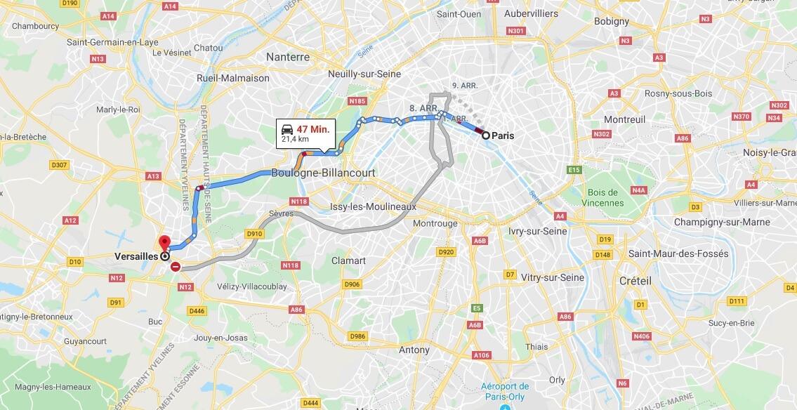 Wo liegt Versailles? Wo ist Versailles? in welchem land liegt Versailles