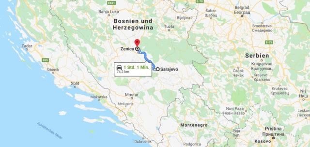 Wo liegt Zenica? Wo ist Zenica? in welchem land liegt Zenica