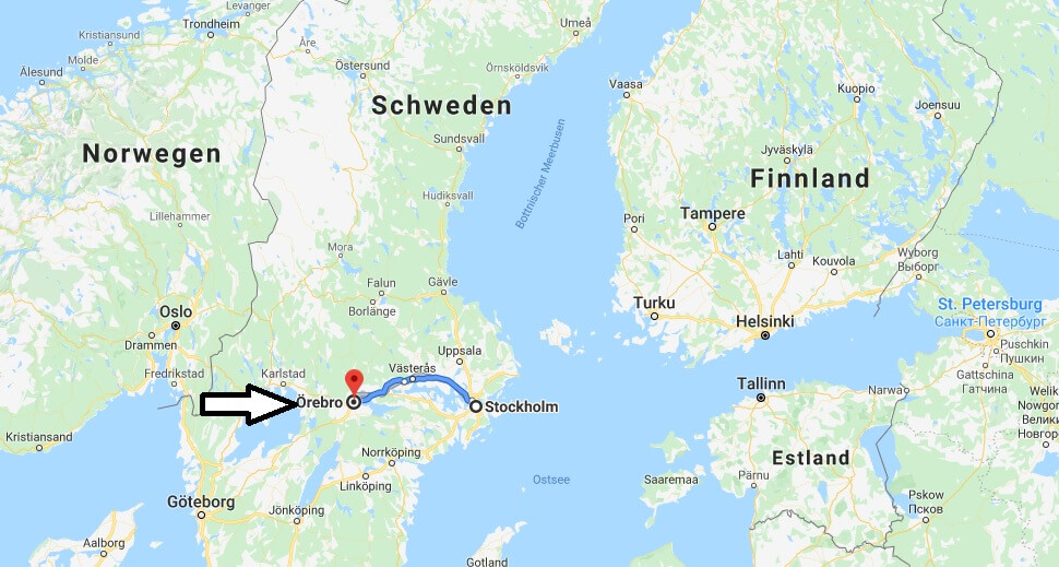 Wo liegt Örebro? Wo ist Örebro? in welchem land liegt Örebro
