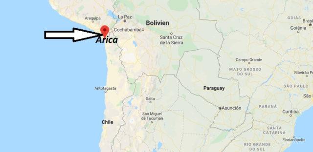 Wo liegt Arica? Wo ist Arica? in welchem land liegt Arica