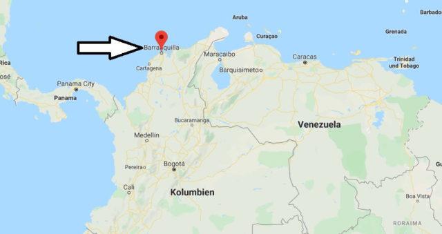 Wo liegt Barranquilla? Wo ist Barranquilla? in welchem land liegt Barranquilla