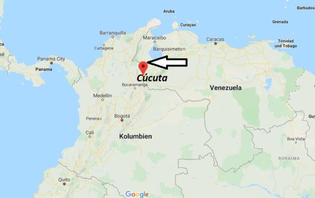 Wo liegt Cúcuta? Wo ist Cúcuta? in welchem land liegt Cúcuta