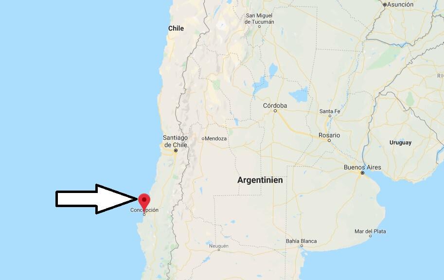 Wo liegt Concepción? Wo ist Concepción? in welchem land liegt Concepción