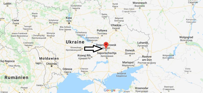 Wo liegt Dnepropetrovsk? Wo ist Dnepropetrovsk? in welchem land liegt Dnepropetrovsk