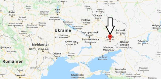 Wo liegt Donezk? Wo ist Donezk? in welchem land liegt Donezk