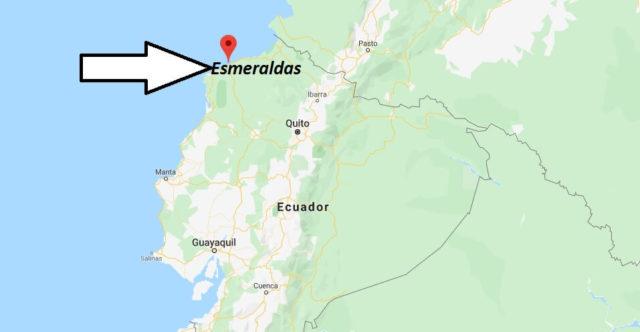 Wo liegt Esmeraldas? Wo ist Esmeraldas? in welchem land liegt Esmeraldas