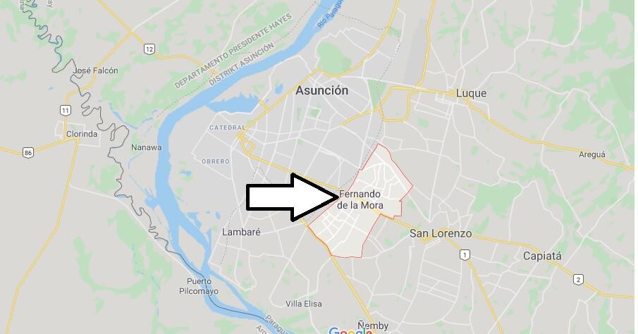 Wo liegt Fernando De La Mora? Wo ist Fernando De La Mora? in welchem land liegt Fernando De La Mora
