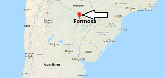 Wo liegt Formosa? Wo ist Formosa? in welchem land liegt Formosa