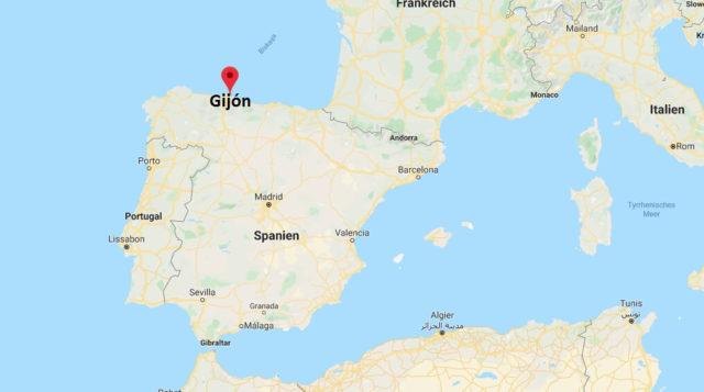 Wo liegt Gijón? Wo ist Gijón? in welchem land liegt Gijón