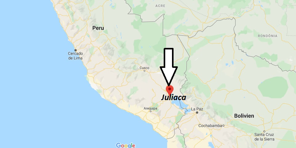 Wo liegt Juliaca? Wo ist Juliaca? in welchem land liegt Juliaca
