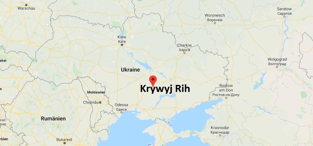 Wo liegt Krywyj Rih? Wo ist Krywyj Rih? in welchem land liegt Krywyj Rih