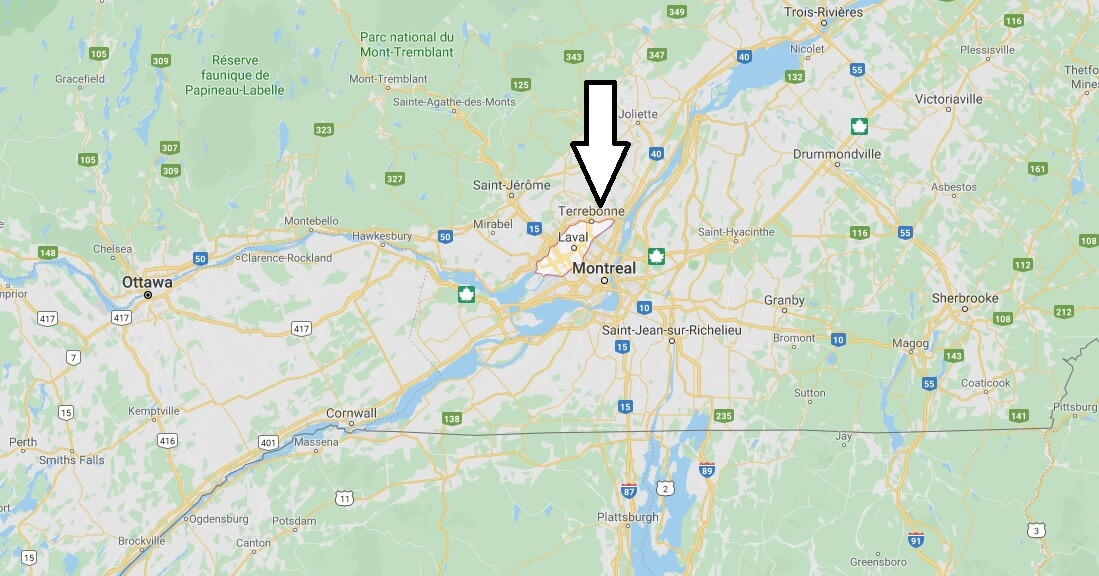 Wo liegt Laval (Québec)? Wo ist Laval? in welchem land liegt Laval