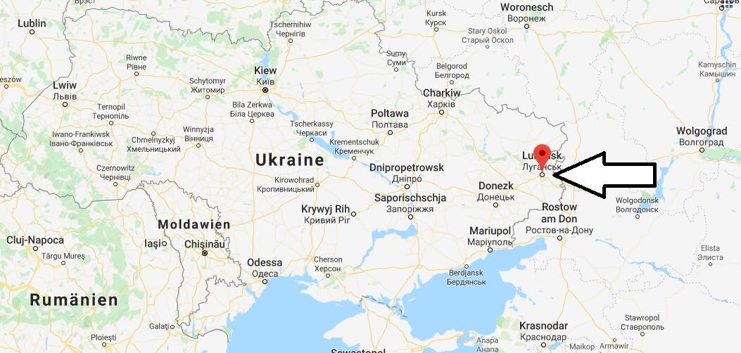 Wo liegt Luhansk? Wo ist Luhansk? in welchem land liegt Luhansk