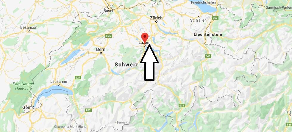 Wo liegt Luzern? Wo ist Luzern? in welchem land liegt Luzern