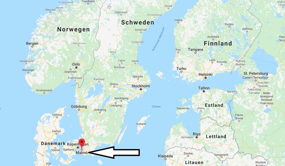 Wo liegt Malmö? Wo ist Malmö? in welchem land liegt Malmö