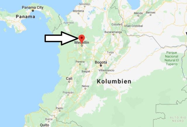 Wo liegt Medellín? Wo ist Medellín? in welchem land liegt Medellín
