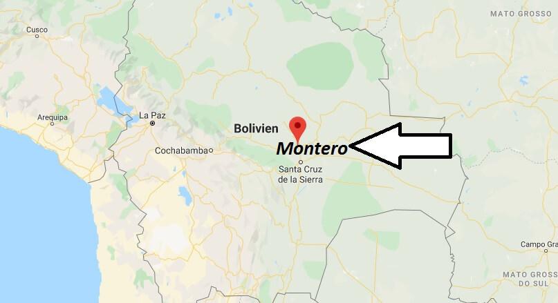 Wo liegt Montero, Bolivien? Wo ist Montero? in welchem land liegt Montero