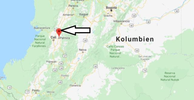 Wo liegt Palmira (Kolumbien)? Wo ist Palmira? in welchem land liegt Palmira