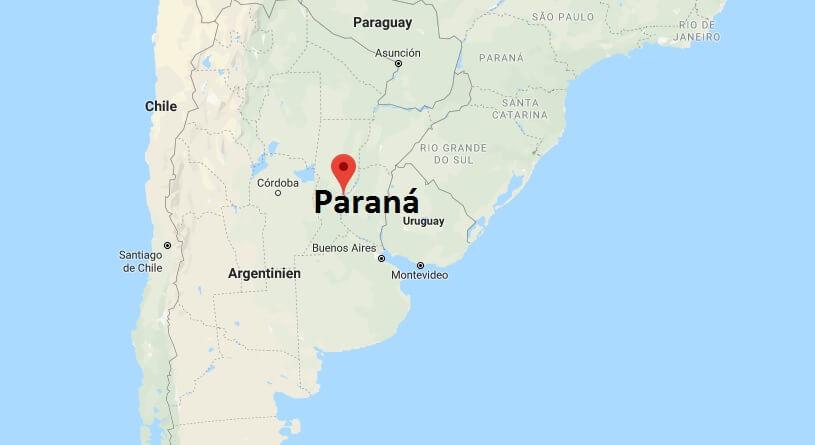 Wo liegt Paraná? Wo ist Paraná? in welchem land liegt Paraná