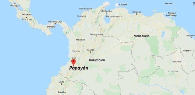 Wo liegt Popayán? Wo ist Popayán? in welchem land liegt Popayán