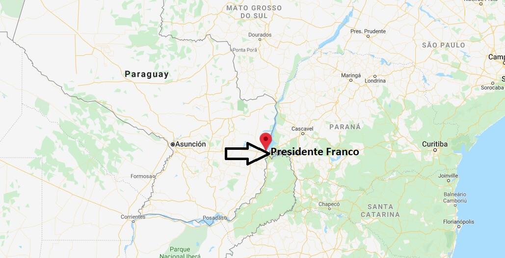 Wo liegt Presidente Franco? Wo ist Presidente Franco? in welchem land liegt Presidente Franco
