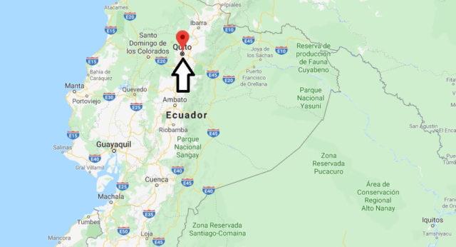 Wo liegt Quito? Wo ist Quito? in welchem land liegt Quito