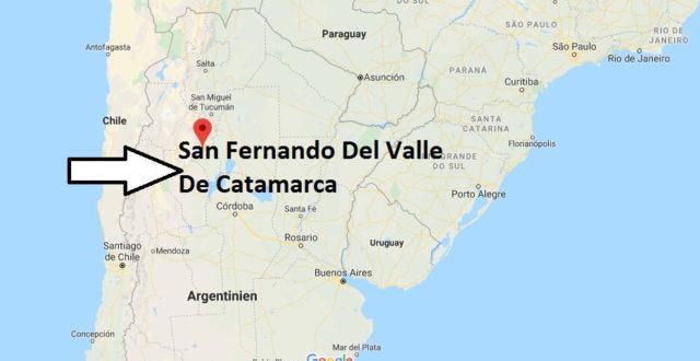 Wo liegt San Fernando Del Valle De Catamarca? Wo ist San Fernando Del Valle De Catamarca