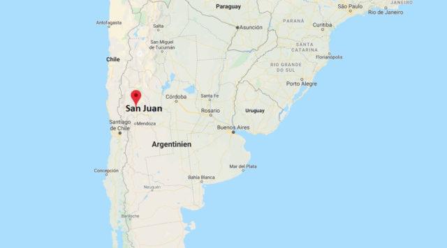 Wo liegt San Juan (Argentinien)? Wo ist San Juan? in welchem land liegt San Juan