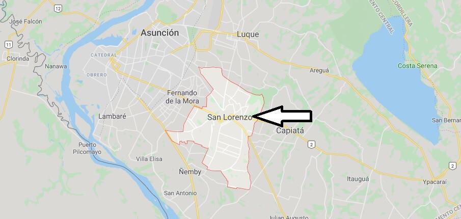 Wo liegt San Lorenzo (Paraguay)? Wo ist San Lorenzo? in welchem land liegt San Lorenzo