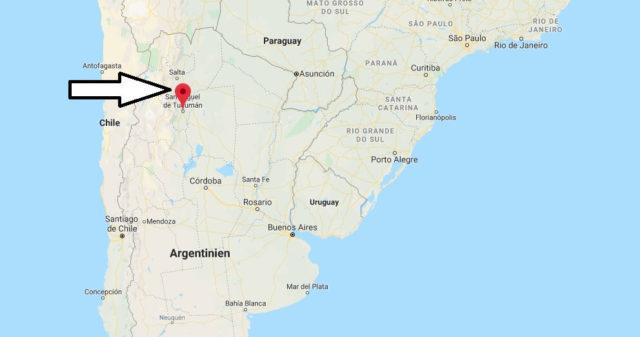 Wo liegt San Miguel de Tucumán? Wo ist San Miguel de Tucumán? in welchem land liegt San Miguel de Tucumán