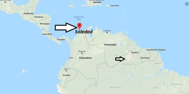 Wo liegt Soledad (Kolumbien)? Wo ist Soledad? in welchem land liegt Soledad