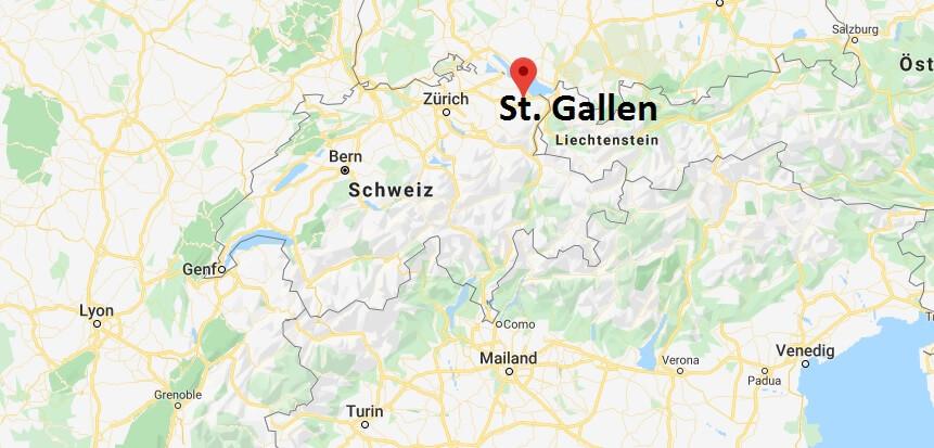 Wo liegt St. Gallen? Wo ist St. Gallen? in welchem land liegt St. Gallen