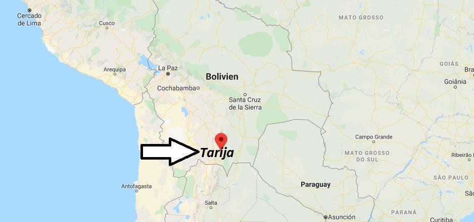 Wo liegt Tarija? Wo ist Tarija? in welchem land liegt Tarija