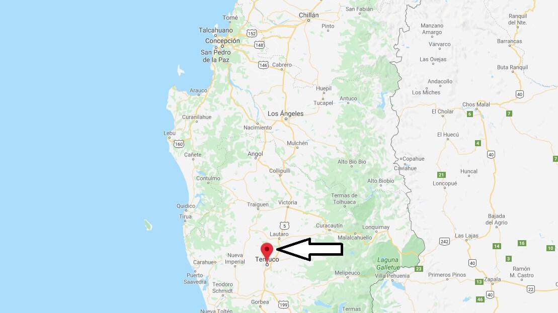 Wo liegt Temuco? Wo ist Temuco? in welchem land liegt Temuco