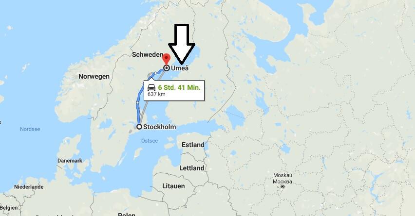 Wo liegt Umeå? Wo ist Umeå? in welchem land liegt Umeå