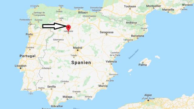 Wo liegt Valladolid? Wo ist Valladolid? in welchem land liegt Valladolid