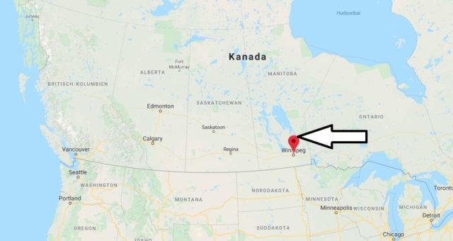 Wo liegt Winnipeg? Wo ist Winnipeg? in welchem land liegt Winnipeg