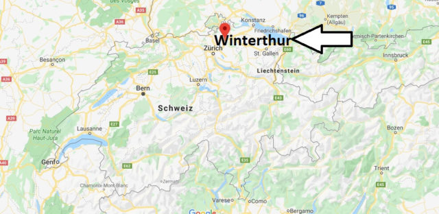 Wo liegt Winterthur? Wo ist Winterthur? in welchem land liegt Winterthur
