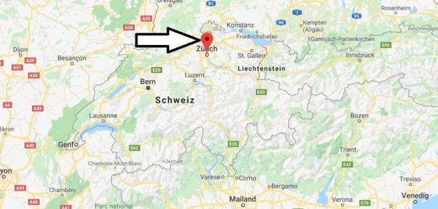 Wo liegt Zürich? Wo ist Zürich? in welchem land liegt Zürich
