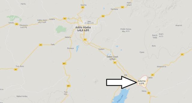 Wo liegt Adama? Wo ist Adama? in welchem land liegt Adama