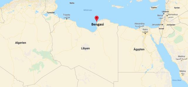 Wo liegt Bengasi? Wo ist Bengasi? in welchem land liegt Bengasi