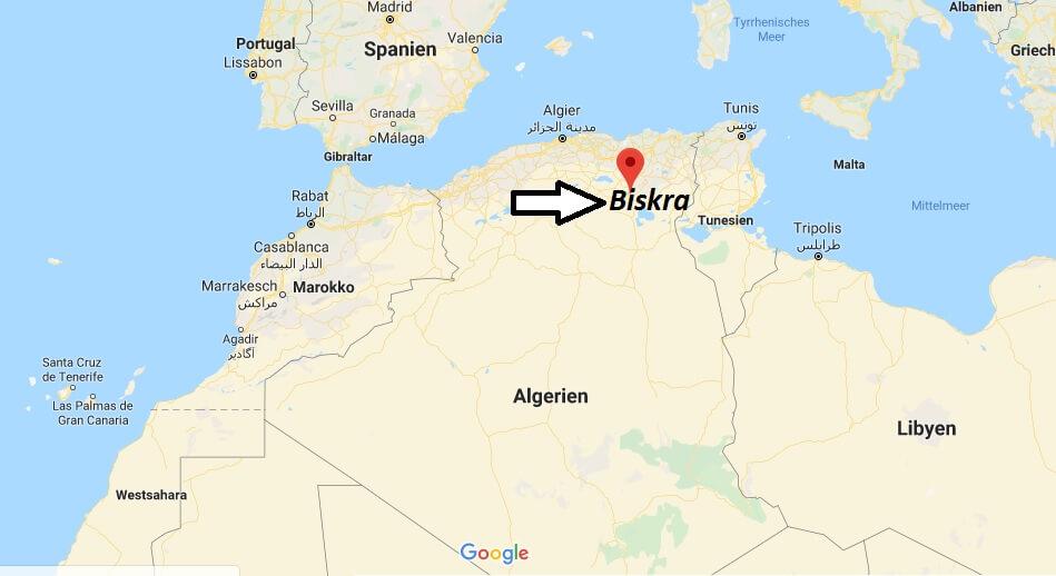 Wo liegt Biskra? Wo ist Biskra? in welchem land liegt Biskra
